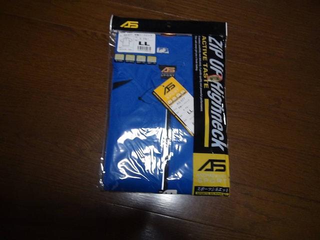 ASのポロシャツ(LL)ブルー&ブラック新品タグ付き袋入り!。 < 男性ファッションの