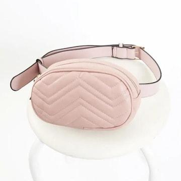 Sevens ポーチ型ボディバッグ ピンク