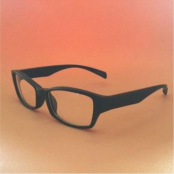 《つや消し 伊達メガネ》メガネ サングラス 艶消し