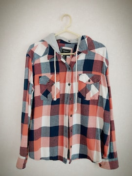 Forever21  フード付チェックシャツ