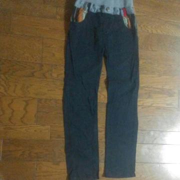 160 ブラック長パンツ