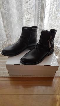 ブーツ BLACK 25.0 新品未使用