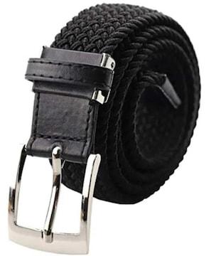 ブラック F.ZH ベルト メンズ 編み込み メッシュ フリーサイズ