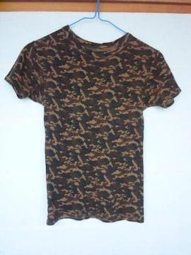 半袖 迷彩 カモフラ柄 Mサイズ チビTシャツ N2m