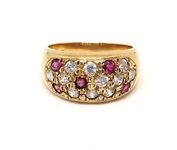 正規美品スタージュエリーリング指輪K10ルビーストーン
