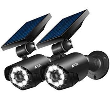 L1-2個 ブラック2個 A-ZONE LED投光器 ソーラーライト センサー
