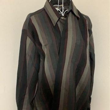 ストライプ☆シックシャツ☆長袖★フリーサイズ