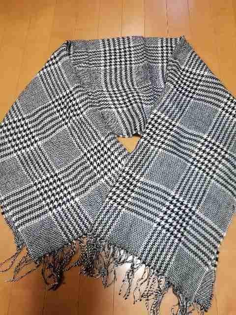 ◆千鳥柄◆大判ストールマフラー◆  < 女性ファッションの