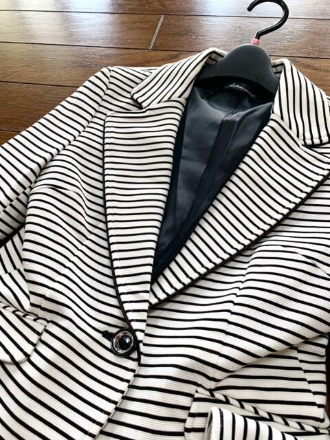 【サイズ9】ARTEMARVEL◆厚手◆ボーダー&ストレッチブレザー < 女性ファッションの