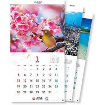 JTAカレンダー 美ら島物語 壁掛 2020年版