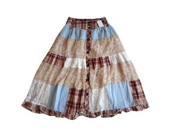 新品 定価2300円 しまむら パッチワーク ロング フレア スカート