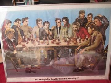 エルビスプレスリーと仲間たちのポスターです。