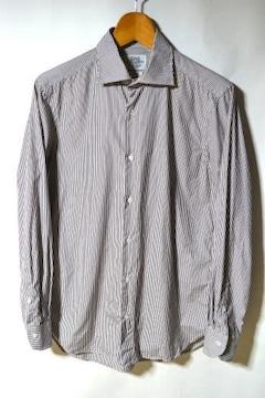 ユナイテッドアローズ ストライプシャツ ドレスシャツ 39 ワイン
