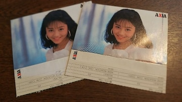 送込/新品未使用!浅香唯の希少カセットインデックス二枚セット