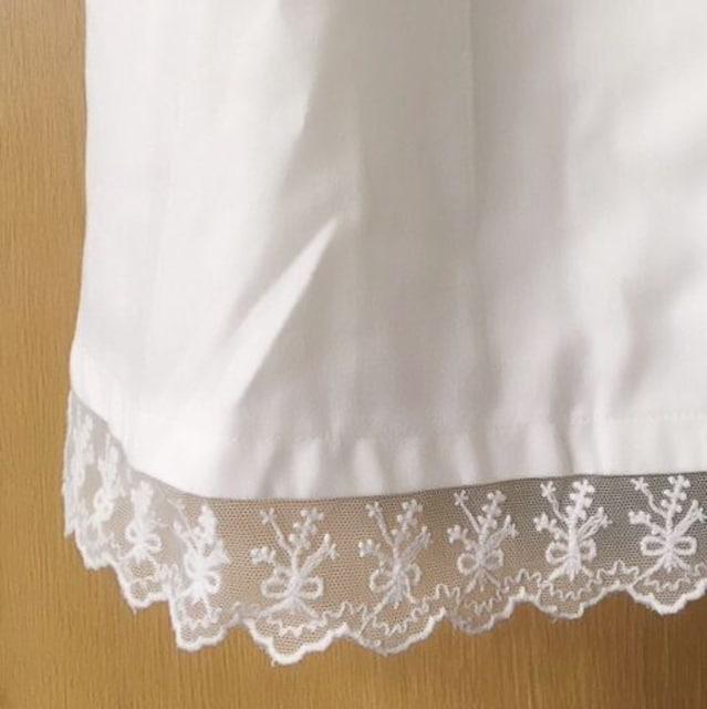 【限定SALE】RFアールエフ【美品】シャツリボンワンピース White < ブランドの