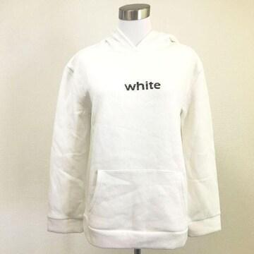 レディース スウェットプルパーカー ホワイト 白 WEGO