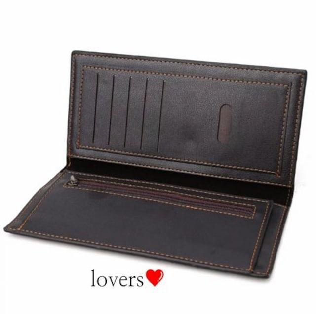 送料込ブラック黒ワニ革クロコ高級フェイクレザー二つ折り長財布 < 女性ファッションの