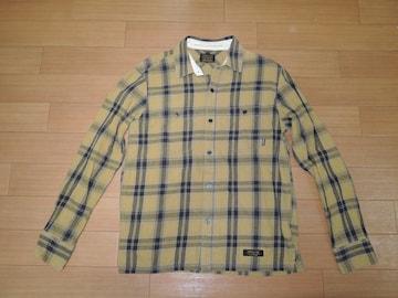 NEIGHBORHOODネイバーフッドLOGGERチェックシャツS黄黒系