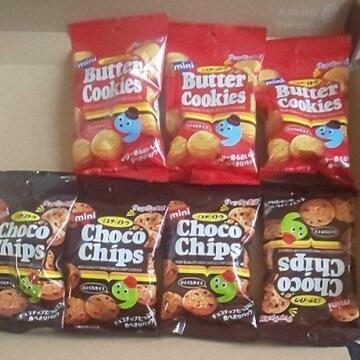 ミスターイトウチョコチップ4袋クッキーバタークッキー3袋