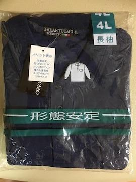 ★新品タグ付き/紺/4L長袖ポロシャツ¥350スタ