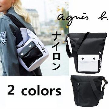 新品☆agnes b.(アニエスベー)ロゴ入りトートバッグ ショルダーバッグ☆
