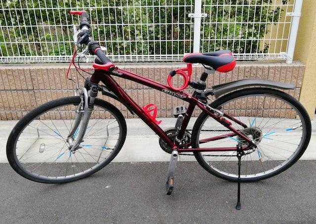 溝口発 激安クロスバイク GIANT SRS - 3 ワインレッド