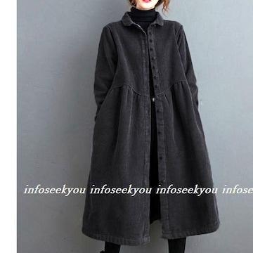 〜LL大きいサイズ/コーデュロイジャケットコート