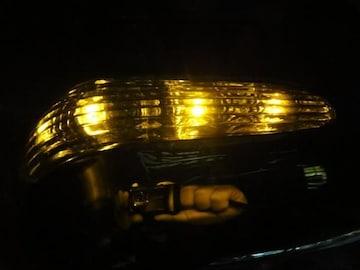 メッキLEDミラーカバー ハリアー 10系15系RX300 アンバー