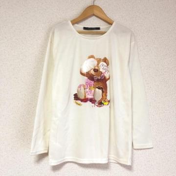 美品 クマちゃんプリントTシャツ ロンT★