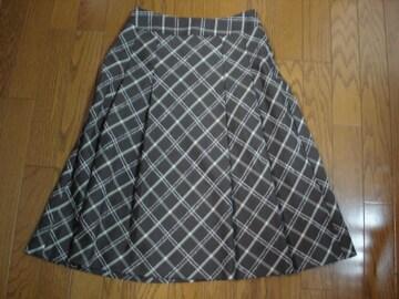 ★キャサリンロス 2重チェックがキュートなウール混スカート★