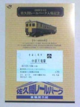 佐久間レールパーク入場記念09・4小人券