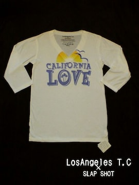 □LosAngeles T.C×SLAP SHOP 深Vネック 七分袖 Tシャツ/メンズ☆新品