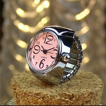 新品 未使用 指輪 時計 シンプル 9色対応 ピンク