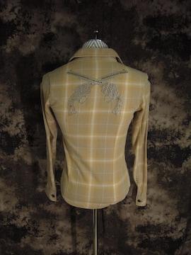 (定価39600)ロアーroar・二丁拳銃ブリーチ加工チェックシャツ