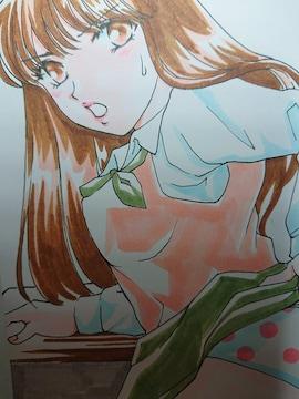 自作イラスト・送料込・オリジナル・少女・JK・たくしあげ・A5サイズ