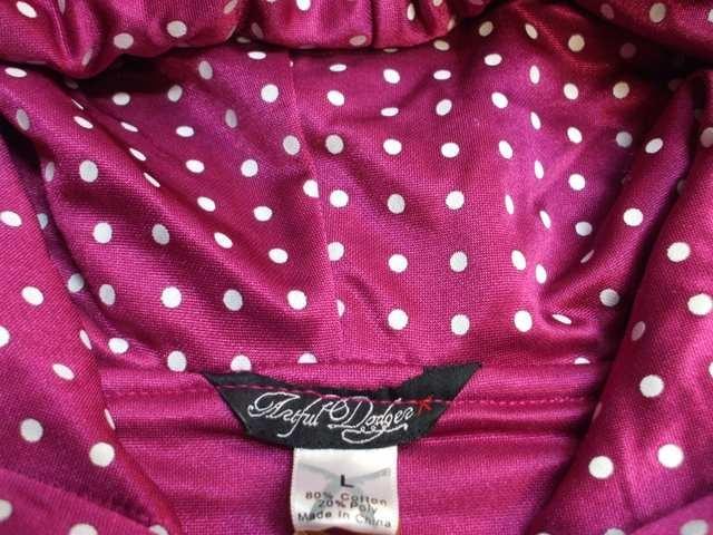 セール新品ArtfulDodgerアートフルドジャー★レア刺繍ジップパーカーLドット柄ピンク < 男性ファッションの