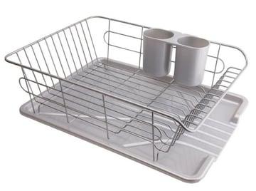 食器 水切り かご 水が流れる トレー付