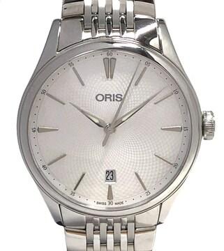 新品同様オリスアートリエデイトAT733 7721 4051M自動巻き時計