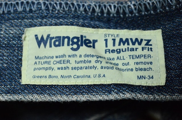 W31復刻ラングラーM1116-01(11MWZ) Texasブロークンデニム < ブランドの