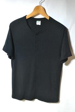 トライブレンド ヘンリーネック Tシャツ 半袖 ブラック M メンズ