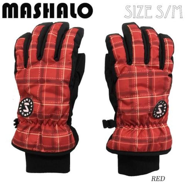 マシャロMASHALOスノーグローブ スキー レディース MSG-616 RED  < レジャー/スポーツの