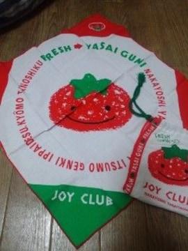 ハンカチ joyclub ポーチ 三角巾 お弁当包みにも トマト柄