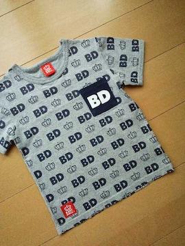 中古総柄Tシャツ110グレー☆ベビードールBABYDOLLベビド