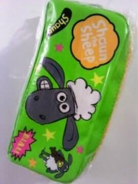 未開封でかジッパーペンケースひつじのショーン ちらし柄¥500