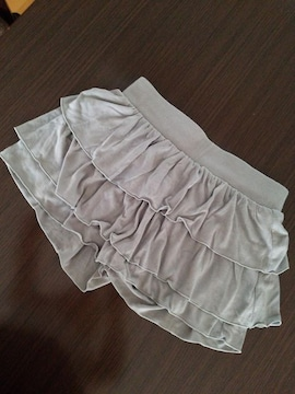 マウジー moussy ミニスカート風 キュロット グレー