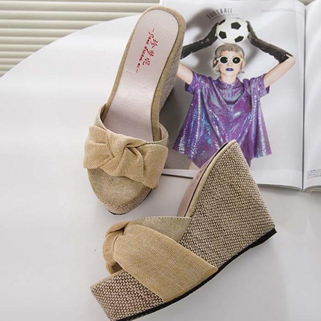 TK315即決 新品 ウェッジ サンダル 24cm プールサイド エスペランサ 好きに < 女性ファッションの