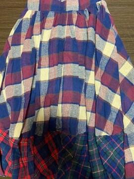 チェックバルーンスカート