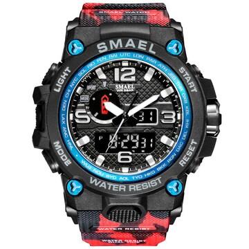 SMAEL 1545D-MC (迷彩タイプ、レッド)