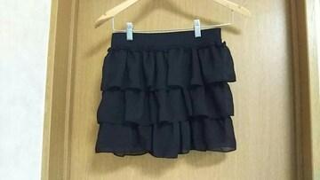 Mサイズ☆黒のミニスカート風キュロット☆