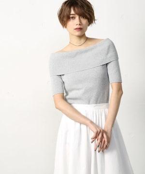 新品☆AZUL by moussy(アズールバイマウジー)ワイドオフショルニット☆